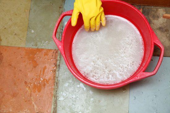 浸け置き洗い
